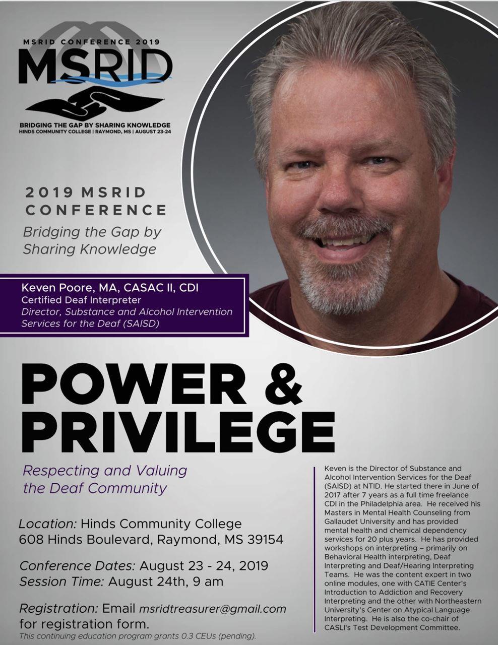 MSRID - 2019 Conference